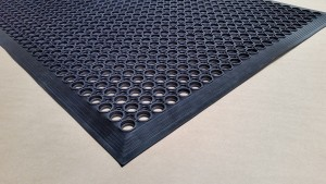 BLACK - Rubber Kitchen Mat - Economy and Utility