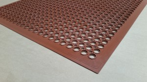 RED - Rubber Kitchen Mat - Economy and Utility